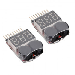 2 X 2 I 1 Lipo Batteri Low Voltage Tester 1S-8S Larmsignal