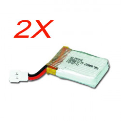 2x Walkera Genius CP Helicopter Parts 3.7V 200mAh Li-po Battery