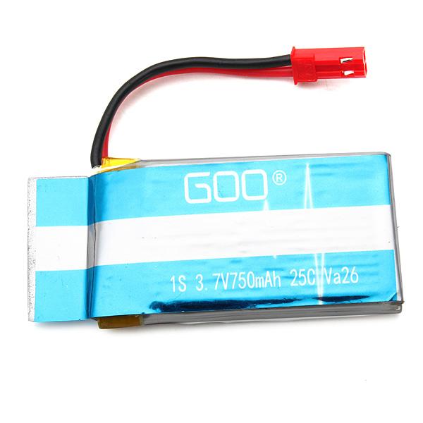 3.7V 750mAh 25C Battery For WLtoys V636 V686 V686K V686J RC Quadcopter RC Toys & Hobbies