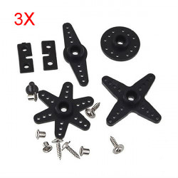 3X Standard Servo MG995 MG996 MG945 Cross Arm Accessories