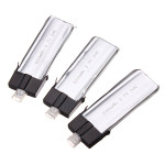 3 X MCPX 1/2 WLs V922 Og V944 500mAh 3.7V 30C Batterier Fjernstyret