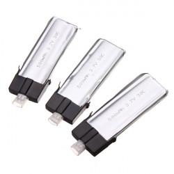 3 x MCPX 1/2 WLtoys V922 and V944 500mAh 3.7V 30C Batteries