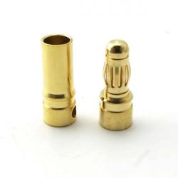 4 / 5,5 / 6mm Gold Rundstecker Bananenstecker für ESC Batterie Motor