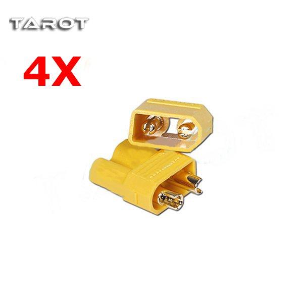 4 Pairs X Tarot Amass XT30 2mm Antiskid Plug Connector TL2918 RC Toys & Hobbies
