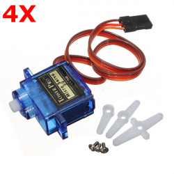 4 X TowerPro SG90 Mini Gear Micro Servo 9g