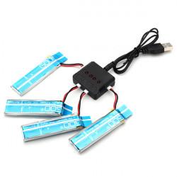 4 X WLtoys V977 V930 3.7V 520MAH Uppgradera Batteri med Laddare