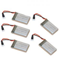 5stk JJRC H9D Syma X5C X5SC 3.7V 650mAh Batteri
