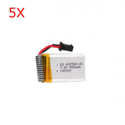 5X JJRC H8C DFD F183 RC Quadcopter Spare Part 7.4V 500mAh Battery