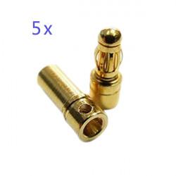 5 x 3.5MM Gold Plated Banana Plug