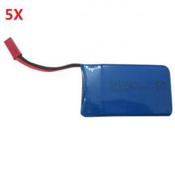 5 x 3,7 V 730mAh Lipo Akku für WLtoys JJRC V686G V686J V686K Quadcopter