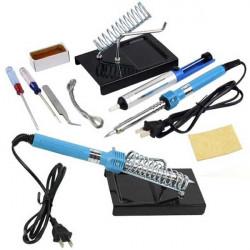 9 I 1 40W Elektrisk Solder Tool Kit Set med Iron Ställ Desolder Pump