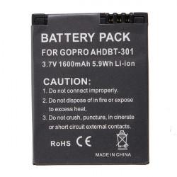 AHDBT-301 3.7V 1600mAh Li-ion Batteri för Gopro Hero 3 Kamera
