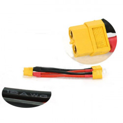 AMASS XT60 Parallel Connector 1 Female 2 Male with Extension Cable