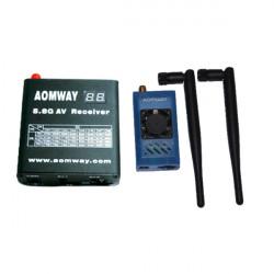 Aomway 5.8G 1W 1000 mW TX RX Set med DVR