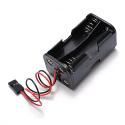 Batteri Box Of Receiver Hållare Fall 4 AA RC Modell 6v Servo Plug