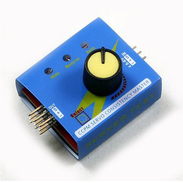 CCPM Servo Konsekvens Mästare Automatisk Tester Radiostyrt