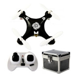 Cheerson CX-10A CX10A 6 Axis RC Quadrokopter Droner Mode 2 Sort + Gaveæske Fjernstyret