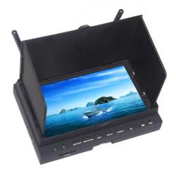 DV701 7 Tums Double 5.8G 32 Frekvens DVR Display med Laddare