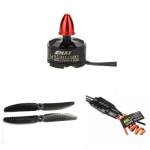 EMAX MT1806 KV2280 Borstlös Motor 5030 Propellrar Esc 12A för QAV250 Radiostyrt