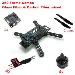 EMAX Nighthawk 250 Glas Carbon Faser Combo CC3D MT1806 Motor 12A ESC