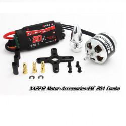 EMAX XA2212 820KV 980KV1400KV Motor med Simonk 20A ESC