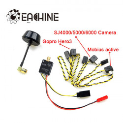 Eachine 5.8G 600mW 32CH AV Wireless Transmitter for Gopro Mobius 808