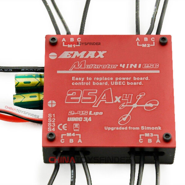 Emax Brushless 25A SimonK 4 in 1 Quadcopter ESC Built in UBEC RC Spiele & Hobbies