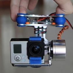 FPV 2 Axis Brushless Gimbal med Controller for DJI Phantom GoPro 3