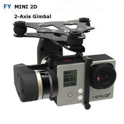 FY MiNi2D 2-Axis Borstlös Gimbal för Gopro4 Gopro3 + Gopro3 Sport Kamera