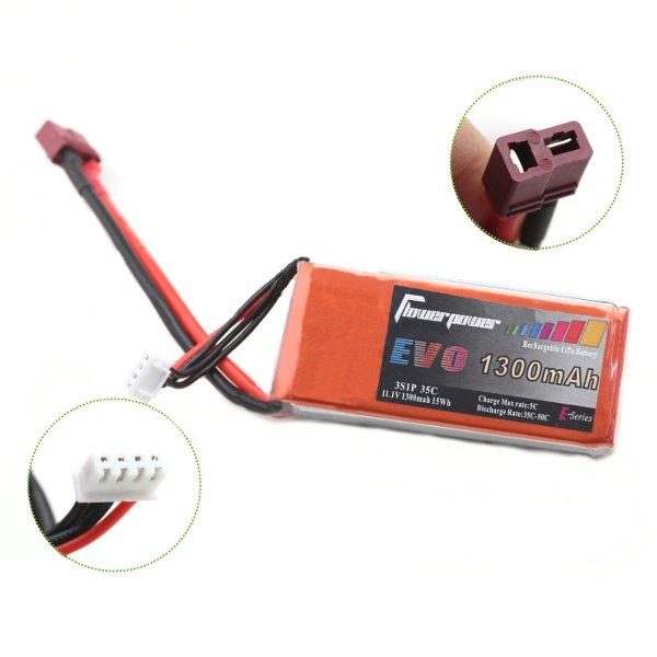 FlowerPower EVO 1300mAh 35C 11.1V 3S1P LiPo Batteri T Plug til RC Models Fjernstyret