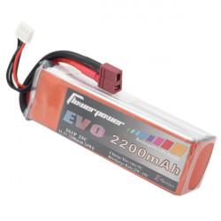 Flower EVO 2200mAh 11.1V 25C 3S1P LiPo Batteri T Plug för RC Modell