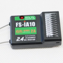 FlySky 2.4G 10CH AFHDS 2A FS-iA10 Receiver For RC Models