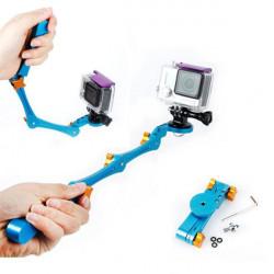 Vikbar Selfie Grip Handheld Stick för Gopro Hero4 / 3 + / 3/2 Kamera
