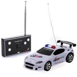 Fyra Färg Mini Fjärrkontroll RC Polisbil med LED-ljus