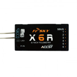 FrSky 2.4G ACCST X6R 6 / 16CH Full Duplex Telemetry Mottagare