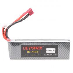 GE Ström 4000mAh 2S 7.4V 25C LiPo Batteri för RC Modeller T Plug