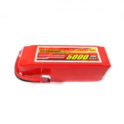 Giant Ström 5000mAh 6S 22.2V 30C High Performance Lipo Batteri