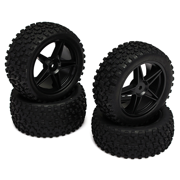 HSP 1:10 12mm Hub Wheel Rim & Tires For RC Off-Road Buggy 66005 RC Toys & Hobbies