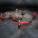 ImmersionRC Vortex-Race Vikbar Mini-quadcopter Integrerad EzOSD Radiostyrt