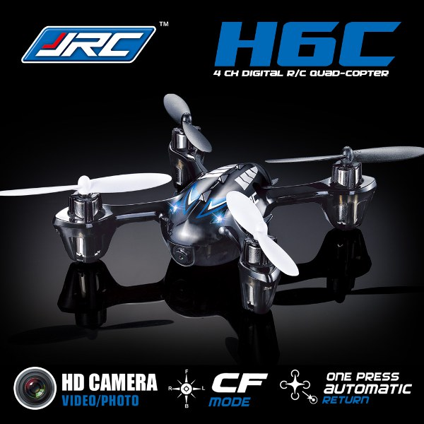 JJRC H6C Ny Version 2.4G 4CH Headless Läge Quadcopter med Kamera Radiostyrt