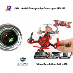 JXD 392 2.4G 4CH 6 Axel Gyroskop RC Quadcopter med Kamera Lysdiod RTF