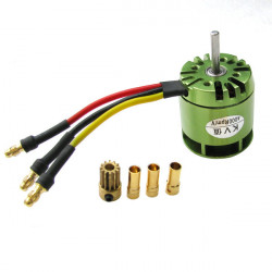 KV4000 Outrunner Brushless Motor For Trex 450 RC Helicopter Green