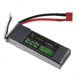 Lion Power 11.1V 1300mAh 25C LiPo Battery T Plug BT692