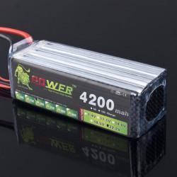 Lion Ström 22.2V 4200mAh 30C LiPo Batteri T Plug BG705