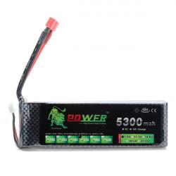 Lion Ström 7.4V 5300mAh 35C LiPo Batteri T Plug BG706
