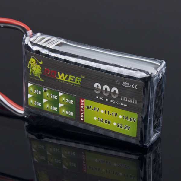 Lion Leistung 7,4V 900mAh 25C LiPo Akku BG717 Für WLtoys V262 V333 RC Spiele & Hobbies
