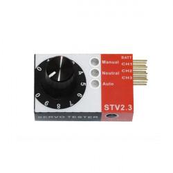 Mini Servo Tester 4.8V till 6.0V STV2.3 BEC Tester