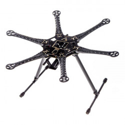S550 Hexcopter Frame Kit With Integrated PCB 550mm Black