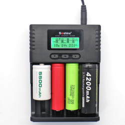 Soshine H4 LCD Universal Smart Laddare för 26650 18650 Li-ion 1.2VC AA AAA