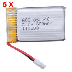 Syma X5 X5C H5C 3.7V 600mAh Upgrade Battery 5 PCS